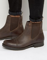 Jack And Jones Simon Leather Chelsea Boots Brown