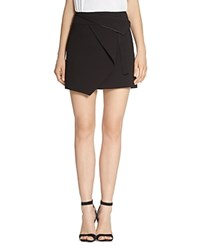 Halston Heritage Origami Mini Skirt Black