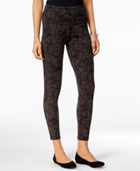 Styleandco. Style Co. Printed Tummy Control Leggings Only At Macy's Deep Black