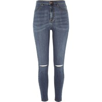 River Island Womens Mid Blue Wash High Rise Molly Jeggings
