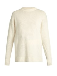 Joseph Self Tie Fastening Cashmere Knit Sweater Ivory