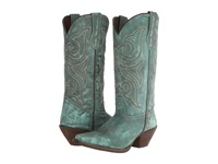 Durango Crush 13 Marbled Turquoise Cowboy Boots Green