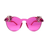 A Rock On A Lens Punch Sunglasses Pink