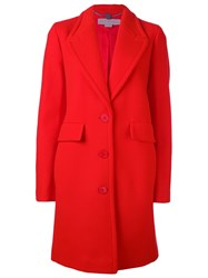 Stella Mccartney Classic Button Up Coat Red