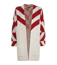Maje Milady Cable Knit Cardigan Female Cream