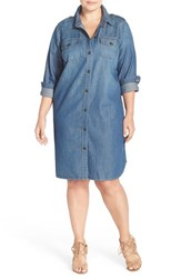Plus Size Women's Two By Vince Camuto Soft Denim Shirtdress