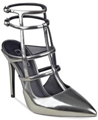 Guess Women's Adrean Cage Pumps Women's Shoes Pewter