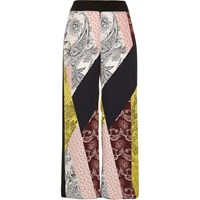 River Island Womens Yellow Paisley Print Cropped Trousers