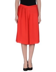 Normaluisa 3 4 Length Skirts Red