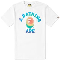 A Bathing Ape Rainbow College Tee White