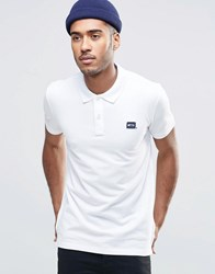 Jack And Jones Pique Polo Shirt With Logo White