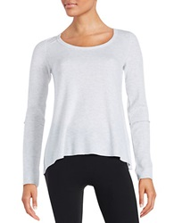 Kensie Hi Lo Thermal Top Optic Heather
