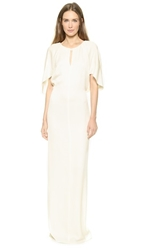 3.1 Phillip Lim Draped Keyhole Gown Ivory