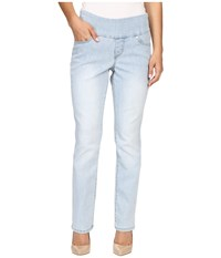 Jag Jeans Petite Peri Pull On Straight Jeans In Comfort Denim Light Indigo Women's Jeans Blue