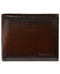 Perry Ellis Michigan Slim Ombre Bifold Wallet Brown