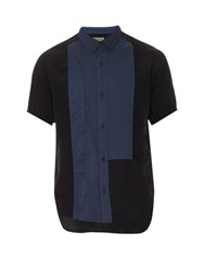 Yohji Yamamoto Multi Panel Short Sleeved Shirt Navy