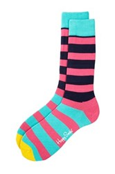 Happy Socks Striped Socks Pink