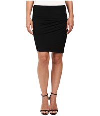 Heather Asymmetrical Twist Skirt Black Women's Skirt