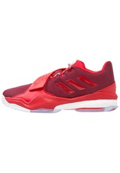 Adidas Performance D Rose Englewood Boost Basketball Shoes Collegiate Burgundy Ray Red White Bordeaux