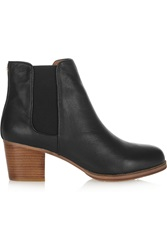 Yosi Samra Leather Ankle Boots Black