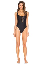 Somedays Lovin Unity Lace Up One Piece Black