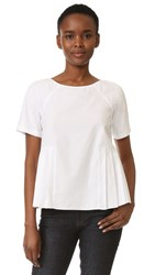 M.Patmos Clement Pleated Top White