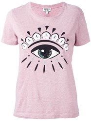 Kenzo 'Eye' T Shirt Pink Purple