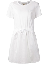 Muveil Drawstring Dress White