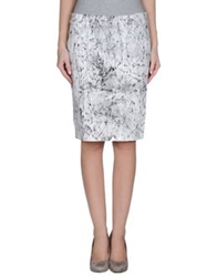 Guess Knee Length Skirts White