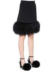 Sonia Rykiel Mongolia Fur And Wool Crepe Skirt