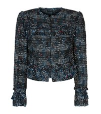 Diane Von Furstenberg Katrin Boucle Tweed Jacket Female Grey