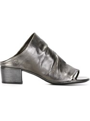 Marsa Ll Distressed Mules Grey