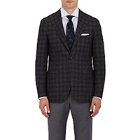 Canali Men's Plaid Two Button Sportcoat Brown