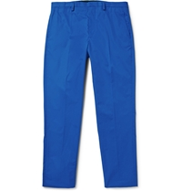 Marc By Marc Jacobs Slim Cut Cotton Twill Trousers Blue