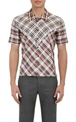 Raf Simons Men's Contrast Plaid Shirt Multi