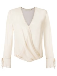 Giuliana Romanno Sheer Blouse Nude And Neutrals