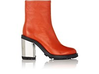 Opening Ceremony Women's Isa Grained Leather Ankle Boots Red