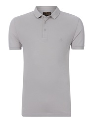 Label Lab Teller Pique Polo Light Grey