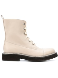 Brunello Cucinelli Lace Up Ankle Boots Nude And Neutrals