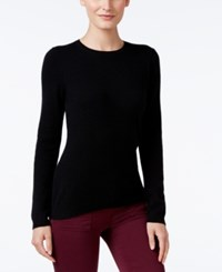 Charter Club Cashmere Crew Neck Sweater Only At Macy's Black