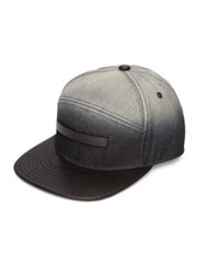 Melin Leather And Cotton Baseball Cap Black