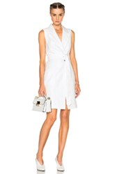 Mcq By Alexander Mcqueen Mcq Alexander Mcqueen Tailored Wrap Dress In White