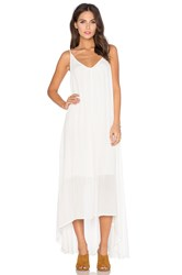 Pink Stitch Resort Maxi Dress Cream