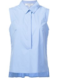 Milly Sleeveless Shirt Blue