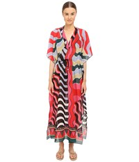 M Missoni Stripe Long Kaftan Cover Up Black