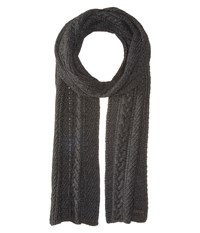 Ted Baker Locdale Charcoal Scarves Gray