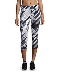 Marc Ny Performance Graphic Print Cropped Leggings White Shattered