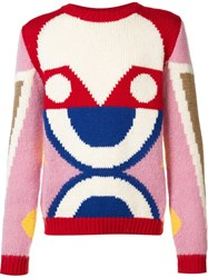 Walter Van Beirendonck Abstract Pattern Pullover White