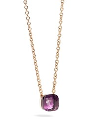 Pomellato Nudo Necklace With Amethyst In 18K Rose And White Gold Purple Gold