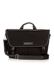 Want Les Essentiels Jackson 15 Cotton Canvas Messenger Bag Black